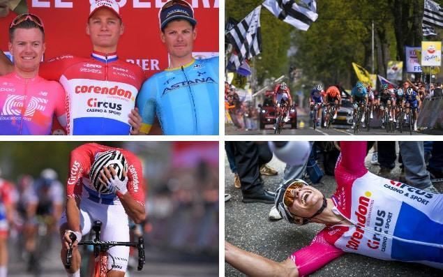 Mathieu van der Poel made a hug statement atAmstel Gold Race on Sunday when the 24-year-old attacked from a long way out before launching a final decisive sprint - GETTY IMAGES