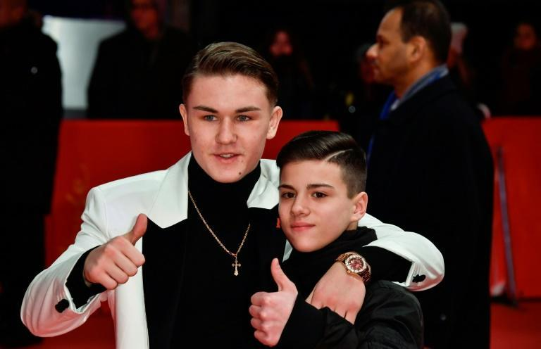 """Actor Artem Tkachuk (L) promoted the Italian film """"Piranhas"""" about youth gangs in Naples"""