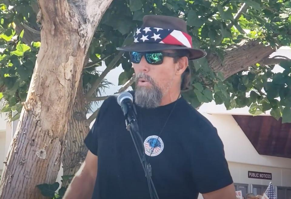 Alan Hostetter speaks at an event last month. (Photo: YouTube)
