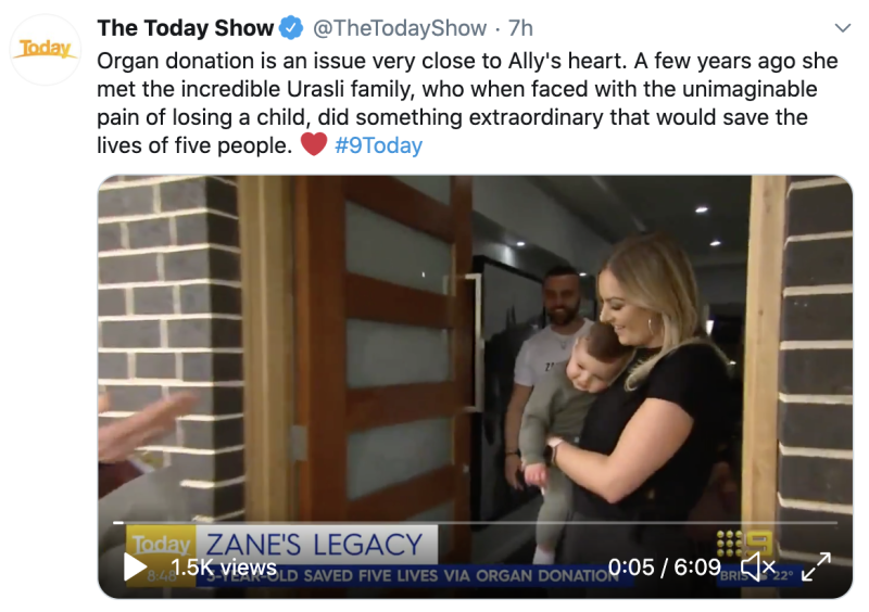 Twitter screenshot of The Today Show