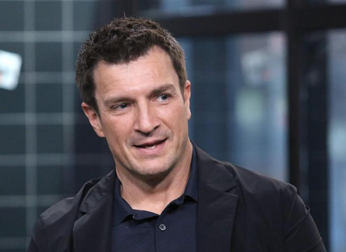 """Nathan Fillion attends the Build Series to discuss """"The Rookie"""" at Build Studio on February 19, 2020. (Jim Spellman/Getty Images)"""