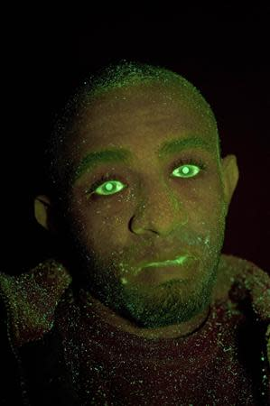 Yafet Askale, who was convicted of stealing from a car, is seen in this undated photograph, taken using ultra violet light, received from the Metropolitan Police in London on September 30, 2013. REUTERS/Metropolitan Police/Handout via Reuters
