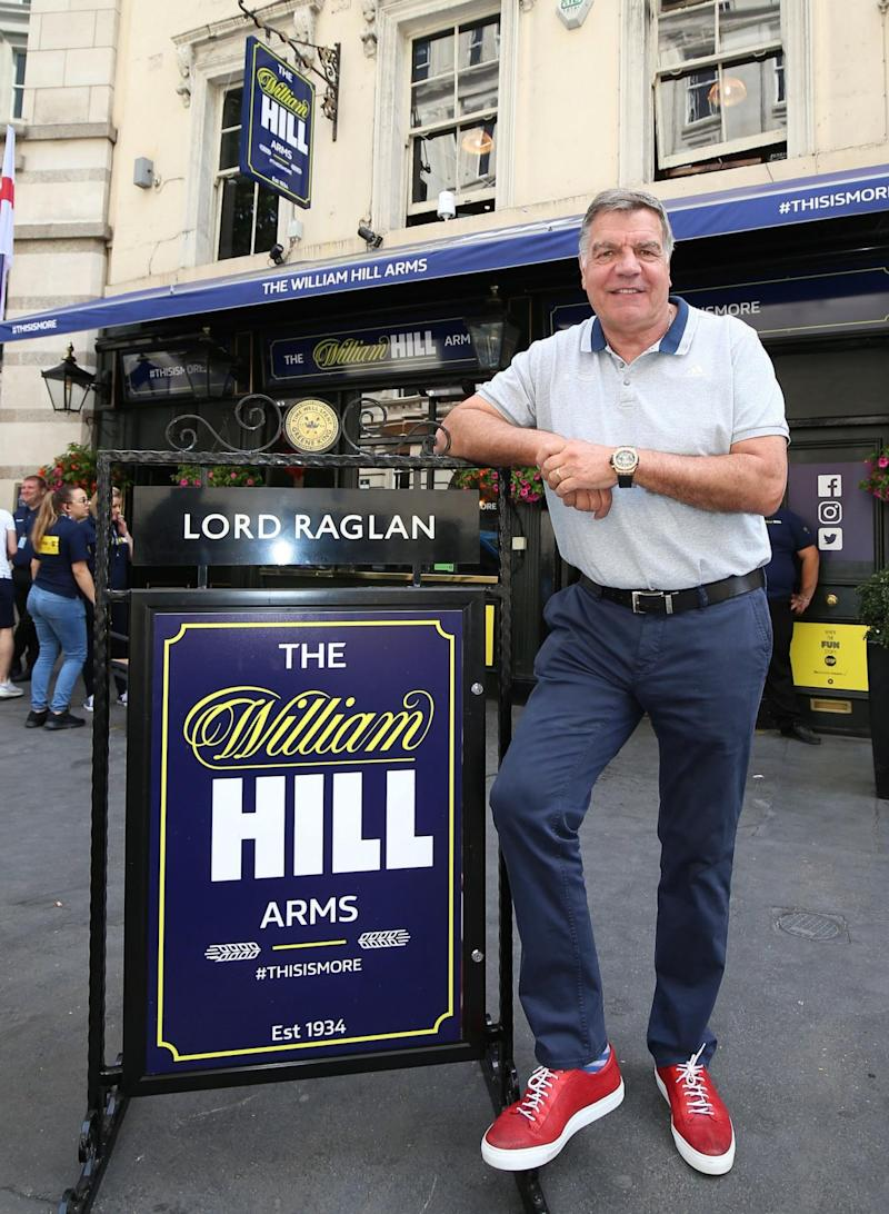 Sam Allardyce at the Lord Raglan Pub in London (PA)