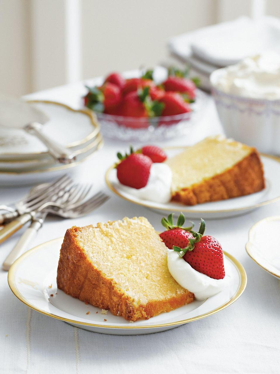 "<p><strong>Recipe: <a href=""https://www.southernliving.com/recipes/old-fashioned-pound-cake"" rel=""nofollow noopener"" target=""_blank"" data-ylk=""slk:Old-Fashioned Pound Cake"" class=""link rapid-noclick-resp"">Old-Fashioned Pound Cake</a></strong></p> <p>Every budding baker should learn how to make one of these beauties, and who better to teach than Grandma?</p>"