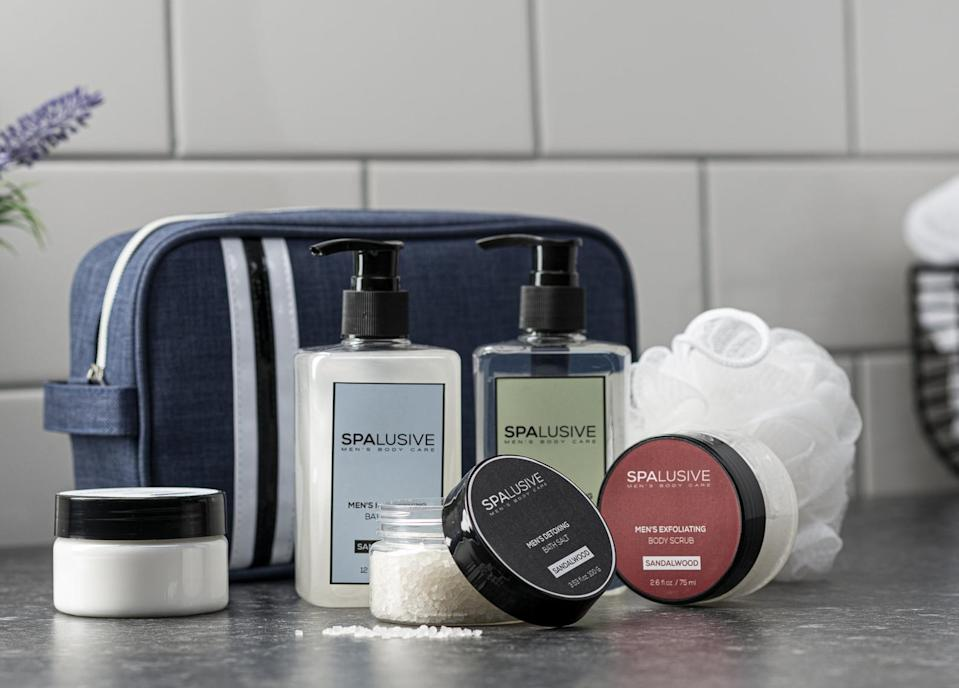 <p>Bring some wellness into his life with this special <span>Spa Gift Set</span> ($25).</p>