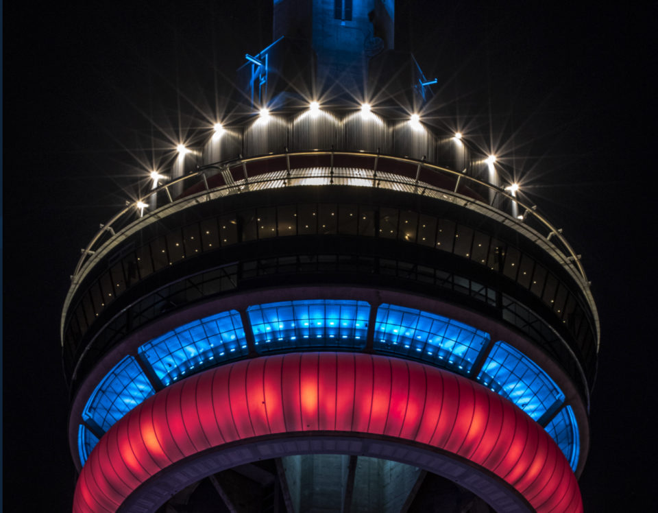 Toronto Mayor John Tory wanted none of the smoke surrounding Tuesday's CN Tower-Montreal Canadiens controversy. (Twitter/CNTower)