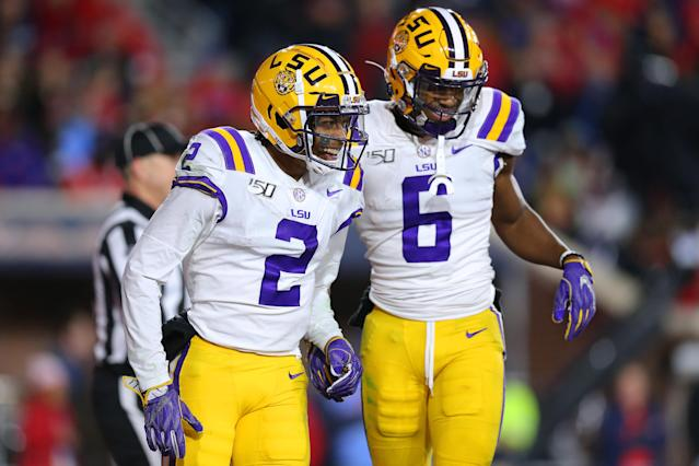 LSU is still sitting pretty. (Photo by Jonathan Bachman/Getty Images)