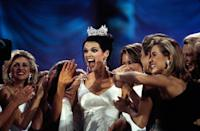 <p>The white beaded gown that Katherine Shindle wore when she was crowned was something out of a fairytale. </p>