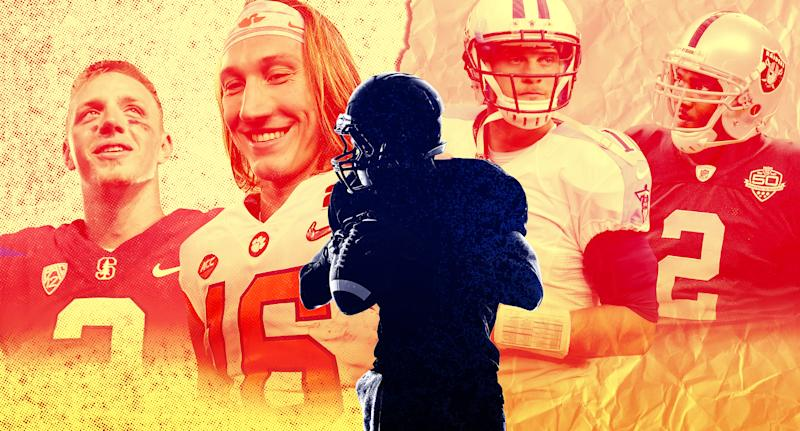 Why is it so hard to identify quarterbacks who will excel at the highest levels of football? Because processing at the most important position in sports is a science that hasn't yet been mastered. (Yahoo Sports illustration)