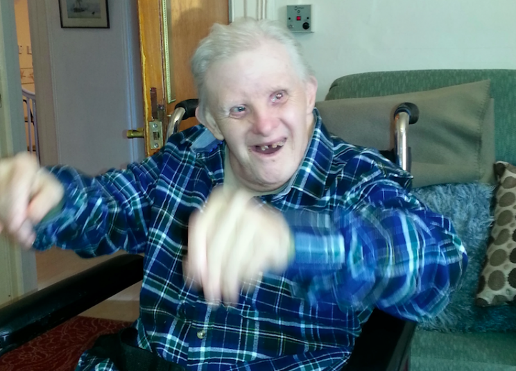 Kenny Cridge is officially the oldest person with Down's syndrome in the world (SWNS)