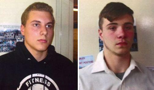 From left: Alexander Miller, 15, and Trevor Gray, 15, could face life behind bars.
