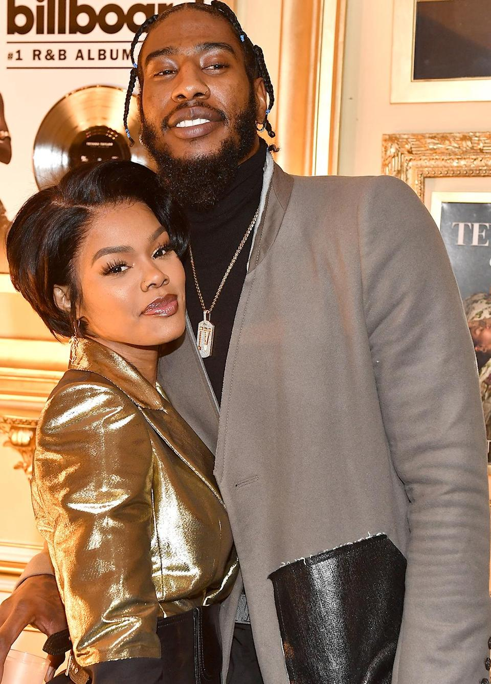 <p>Teyana Taylor and Iman Shumpert attend their Black Tie Masquerade Party on New Year's Eve in Alpharetta, Georgia. </p>