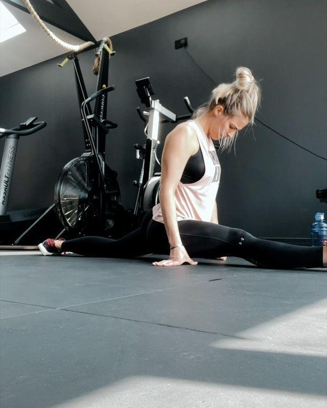 """<p>Whether it's <a href=""""https://www.womenshealthmag.com/uk/fitness/workouts/a35848728/morning-stretches/"""" rel=""""nofollow noopener"""" target=""""_blank"""" data-ylk=""""slk:morning stretches"""" class=""""link rapid-noclick-resp"""">morning stretches</a>, bedtime stretches or post-workout stretching (mega, mega important) Gem gets it done because she knows how crucial it is for her body and her recovery. While you might not be working up to the splits, you can still make time to stretch. It's worth it. </p><p><strong>RELATED: </strong>Try these <a href=""""https://www.womenshealthmag.com/uk/fitness/g36260174/glute-stretches/"""" rel=""""nofollow noopener"""" target=""""_blank"""" data-ylk=""""slk:glute stretches"""" class=""""link rapid-noclick-resp"""">glute stretches</a> for the ultimate post-workout recovery</p><p><a href=""""https://www.instagram.com/p/CN5fY7gn4Km/"""" rel=""""nofollow noopener"""" target=""""_blank"""" data-ylk=""""slk:See the original post on Instagram"""" class=""""link rapid-noclick-resp"""">See the original post on Instagram</a></p>"""