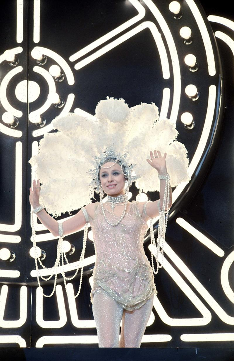On stage in 'The Boy Friend' (1971)