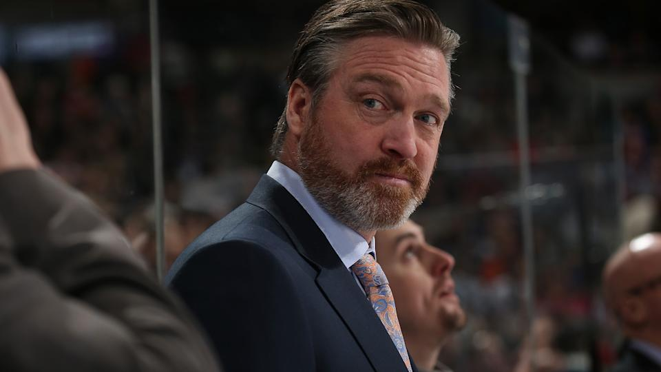 DENVER, CO - MARCH 24: Head coach Patrick Roy of the Colorado Avalanche looks on during the game against the Philadelphia Flyers at the Pepsi Center on March 24, 2016 in Denver, Colorado. (Photo by Michael Martin/NHLI via Getty Images)