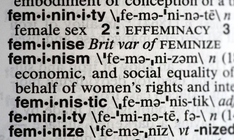 Feminism listed in a Merriam-Webster dictionary.