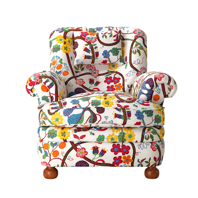 "Armchair 336 in Baranquilla fabric by Josef Frank for Svenskt Tenn; $4,200 (excluding fabric). <a href=""https://www.svenskttenn.se/en/"" rel=""nofollow noopener"" target=""_blank"" data-ylk=""slk:svenskttenn.se"" class=""link rapid-noclick-resp"">svenskttenn.se</a>"