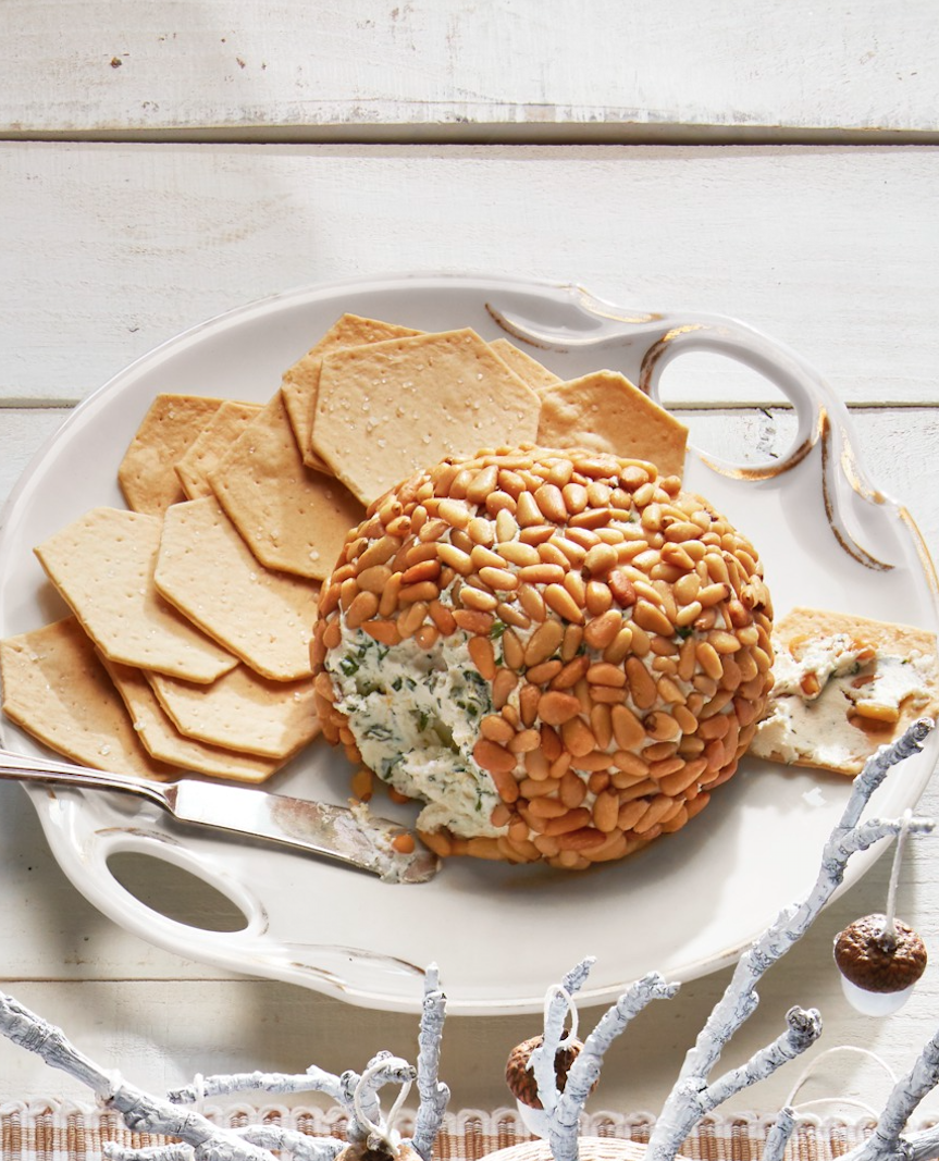 "<p>Another option: cheese ball! This pairs well with <a href=""https://www.amazon.com/Primal-Crackers-Parmesan-Organic-Gluten/dp/B01MU22JSD/?tag=syn-yahoo-20&ascsubtag=%5Bartid%7C10050.g.35131635%5Bsrc%7Cyahoo-us"" rel=""nofollow noopener"" target=""_blank"" data-ylk=""slk:your keto-cracker"" class=""link rapid-noclick-resp"">your keto-cracker</a> of choice. </p><p><strong><a href=""https://www.countryliving.com/food-drinks/a29641000/herbed-cheese-ball-recipe/"" rel=""nofollow noopener"" target=""_blank"" data-ylk=""slk:Get the recipe"" class=""link rapid-noclick-resp"">Get the recipe</a>.</strong></p><p><a class=""link rapid-noclick-resp"" href=""https://www.amazon.com/cheese-knives/b?ie=UTF8&node=13875941&tag=syn-yahoo-20&ascsubtag=%5Bartid%7C10050.g.35131635%5Bsrc%7Cyahoo-us"" rel=""nofollow noopener"" target=""_blank"" data-ylk=""slk:SHOP CHEESE KNIVES"">SHOP CHEESE KNIVES</a></p>"
