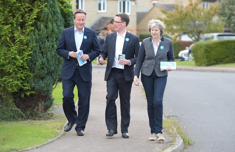 Mr Cameron helped Theresa May campaign for a by-election in October 2016 (Picture: PA)