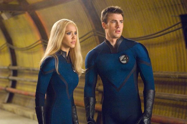 Jessica Alba and Chris Evans as Sue and Johnny Storm in <i>Fantastic Four: Rise of the Silver Surfer</i>. (20th Century Fox)