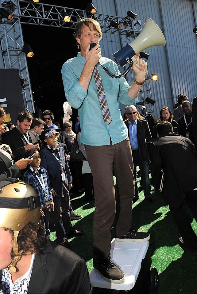 "Skateboarding legend Tony Hawk was on hand to host the fun-filled awards show. Jordan Strauss/<a href=""http://www.wireimage.com"" target=""new"">WireImage.com</a> - February 21, 2011"