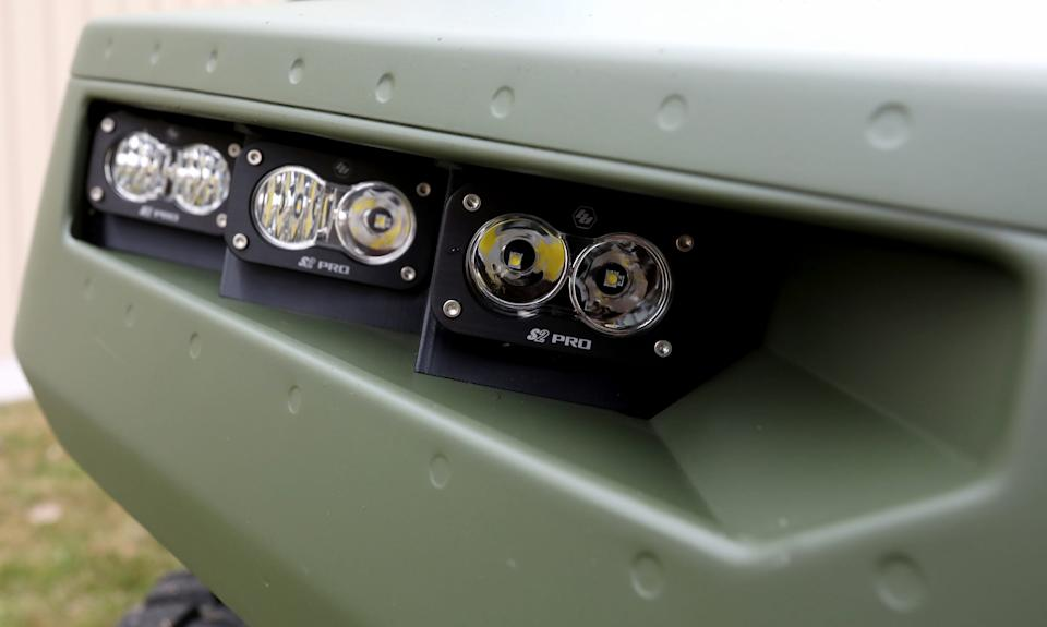 The front headlines of the General Motors Defense new Infantry Support Vehicle (ISV).