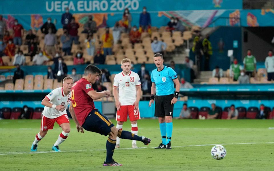 Gerard Moreno's penalty miss against Poland summed up Spain's luck in front of goal this tournament - GETTY IMAGES