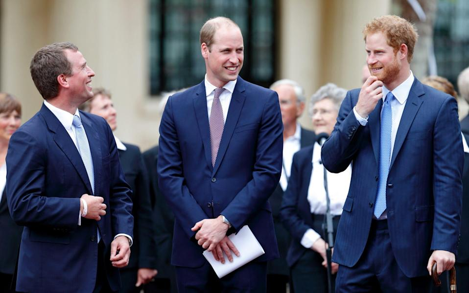 prince william and harry peter philips - Getty