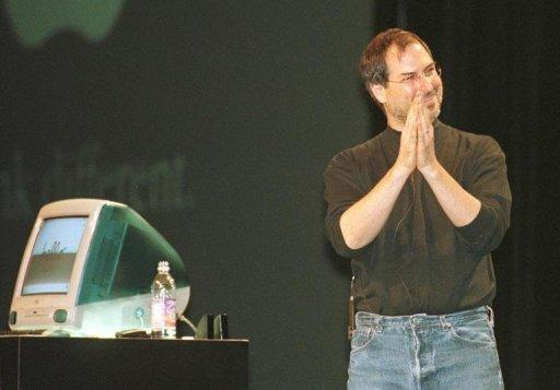 File picture from 1998 shows Steve Jobs giving the keynote address at the Seybold San Francisco Publishing 98 conference standing next to the newly released iMac Jobs has died from cancer aged just 56, a premature end for a man who revolutionized modern culture and changed forever the world's relationship to technology