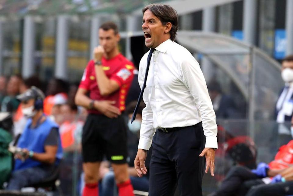 Simone Inzaghi during the game.