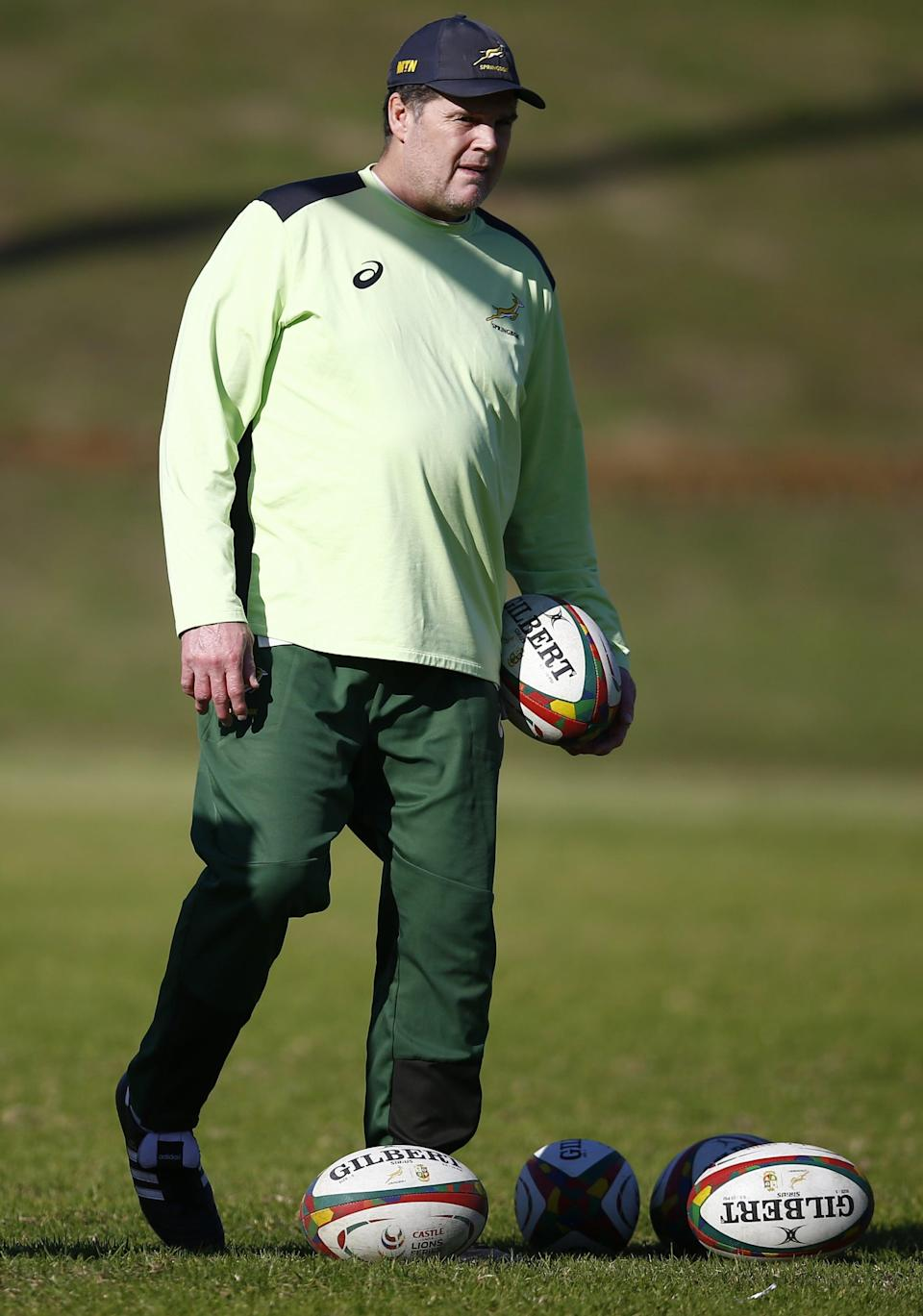 Rassie Erasmus, pictured, took the focus off the Springboks ahead of their second-Test win over the British and Irish Lions (Steve Haag/PA) (PA Wire)