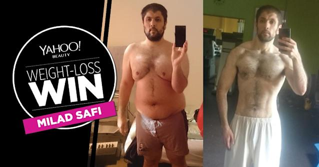 Milad Safi lost 100 pounds.