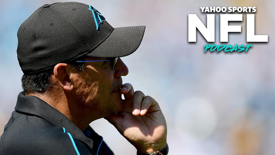 Carolina Panthers head coach Ron Rivera was fired by owner David Tepper on Tuesday. (Photo by Jacob Kupferman/Getty Images)