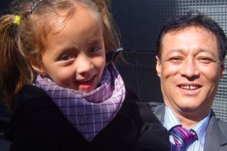 <p>Karma Hardy with his daughter</p> (LDRS)