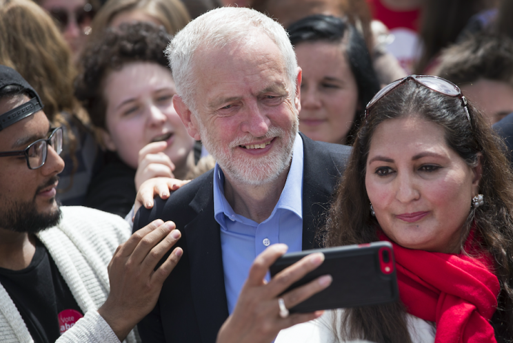 Jeremy Corbyn is enjoying the highest ratings of his campaign (Rex)