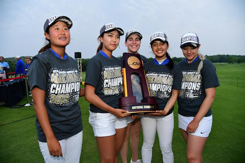 Duke women win NCAA Women's Golf Championship, their seventh national title, in a dramatic final with Wake Forest