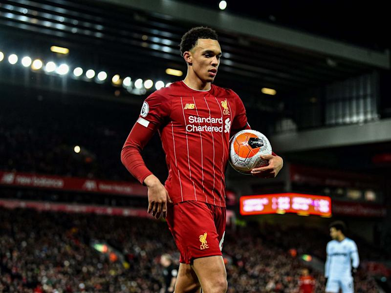 Trent Alexander-Arnold is having the biggest influence on games across the Premier League: Getty