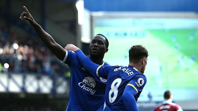 Ross Barkley and Romelu Lukaku were influential as Everton beat Burnley 3-1 to move into fifth place in the Premier League.