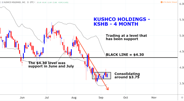 KushCo Holdings, Inc. (KSHB)