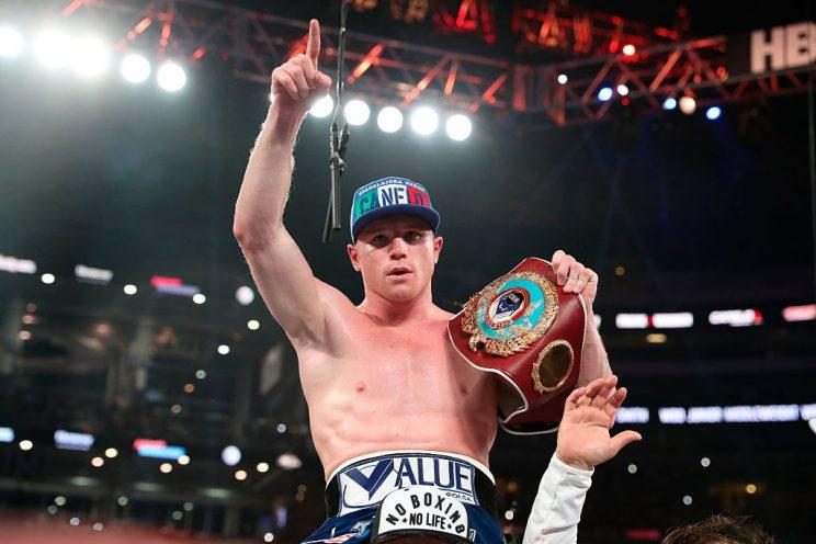 Canelo Alvarez will meet Julio Cesar Chavez Jr. on Saturday in Las Vegas. (Getty)