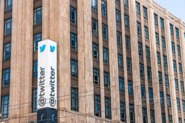 August 10, 2019 San Francisco / CA / USA - Twitter headquarters in downtown San Francisco