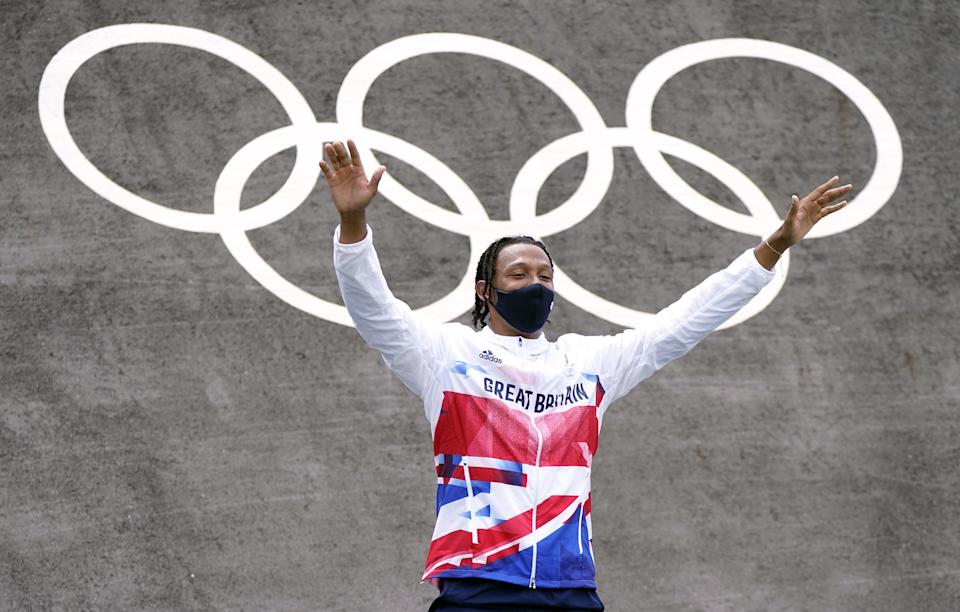 Great Britain's Kye Whyte receives his silver medal (Danny Lawson/PA) (PA Wire)