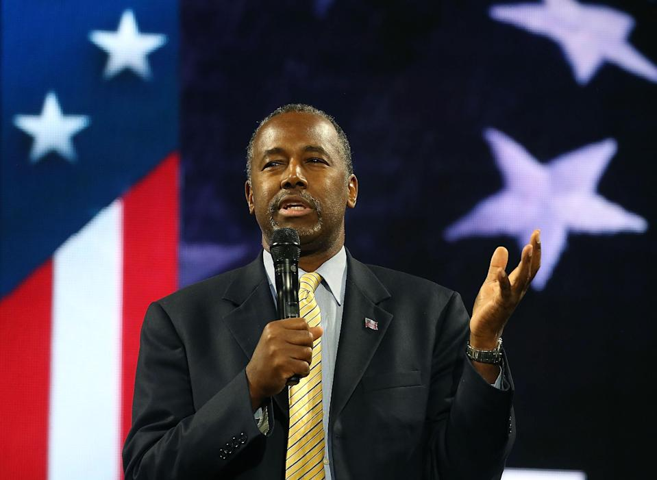 "<h1 class=""title"">Ben Carson Delivers Remarks At Liberty University Convocation</h1><cite class=""credit"">Mark Wilson/Getty Images</cite>"