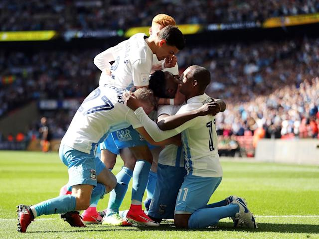 Coventry City take break from turmoil to beat Oxford United and win Checkatrade Trophy at Wembley