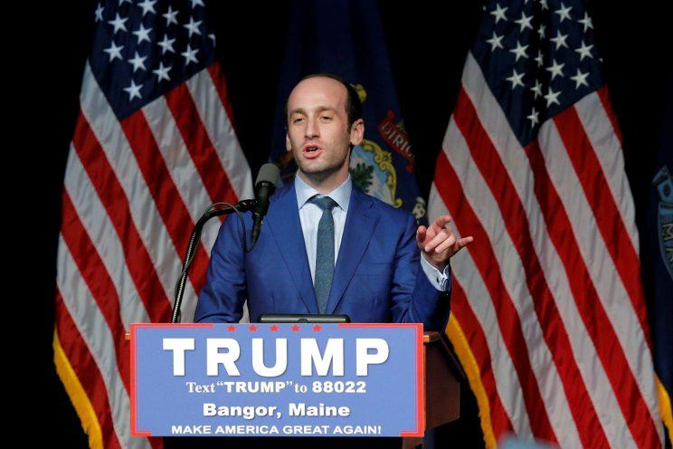 Stephen Miller at a Donald Trump campaign rally in Bangor, Maine. (Photo: Brian Snyder/Reuters)