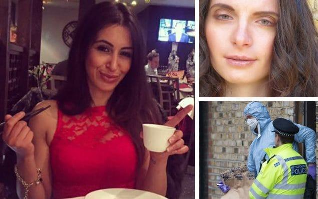 Sabrina Kouider, left, is one of two people charged with murdering an 'au pair' named locally as Sophie Lionnet, top right, after a body was found in a Southfields garden, bottom right - Facebook and Peter Macdiarmid/LNP