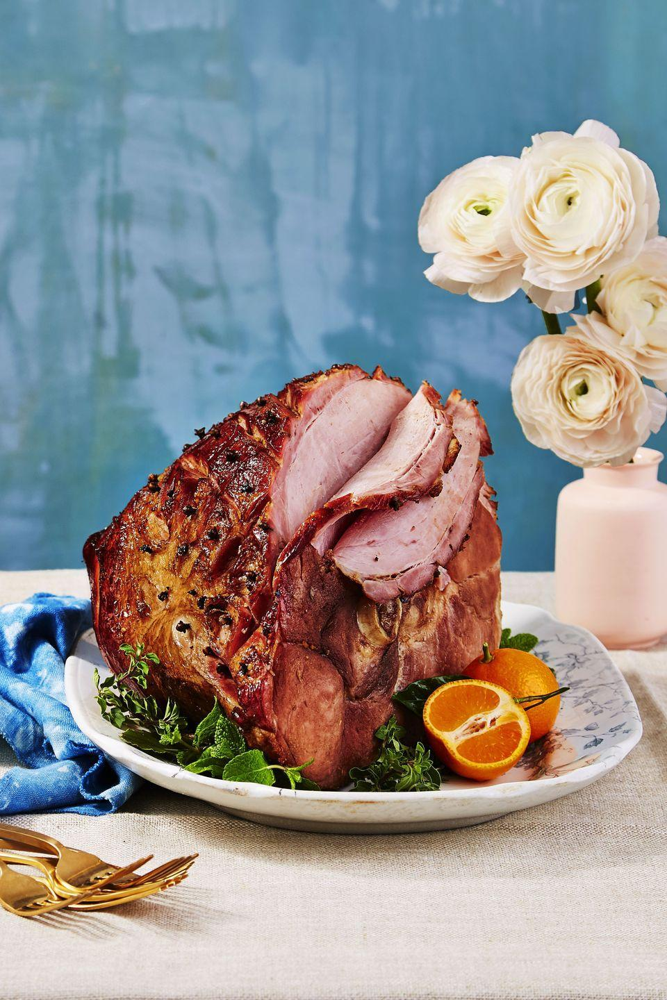 "<p>The secret to this fancy ham's undeniably sweet flavor? A big can of fizzy root beer.</p><p><a href=""https://www.goodhousekeeping.com/food-recipes/a37453/baked-ham-with-root-beer-glaze-recipe/"" rel=""nofollow noopener"" target=""_blank"" data-ylk=""slk:Get the recipe for Baked Ham with Root Beer Glaze »"" class=""link rapid-noclick-resp""><em>Get the recipe for Baked Ham with Root Beer Glaze »</em></a> </p>"