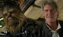 """<p>The Han Solo star was rushed to hospital after a hydraulic door – part of the practical Millennium Falcon set – malfunctioned and fell down on his leg, <a href=""""https://uk.movies.yahoo.com/chewbacca-actor-recalls-time-tried-save-harrison-ford-millennium-falcon-accident-104427651.html"""" data-ylk=""""slk:breaking it in the process;outcm:mb_qualified_link;_E:mb_qualified_link;ct:story;"""" class=""""link rapid-noclick-resp yahoo-link"""">breaking it in the process</a>. He was out of action for months. </p>"""