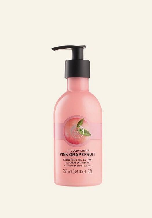 <p>You have a confident and optimistic energy, and you need a strong scent like <span>The Body Shop Pink Grapefruit Body Lotion</span> ($13) to match it.</p>