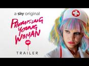 """<p><strong>Watch now on Sky Cinema or NOW</strong></p><p>Carey Mulligan stars in this black comedy revenge thriller about a woman who goes to nightclubs each week, pretending to be fall-down drunk, to catch out the supposed 'nice guys' that come and see if she's okay, before taking her home.</p><p>Cassie (Mulligan) is determined to teach these guys a lesson they won't forget about consent, due to something mysterious happening in her past that caused her to drop out of medical school.</p><p>Featuring all-star cast including Laverne Cox, Alison Brie, comedian Bo Burnham, Jennifer Coolidge, Adam Brody and Connie Britton (Nashville), directed by Emerald Fennell (The Crown) and produced by Margot Robbie. </p><p><a href=""""https://youtu.be/-QZMuP1Rs2s"""" rel=""""nofollow noopener"""" target=""""_blank"""" data-ylk=""""slk:See the original post on Youtube"""" class=""""link rapid-noclick-resp"""">See the original post on Youtube</a></p>"""